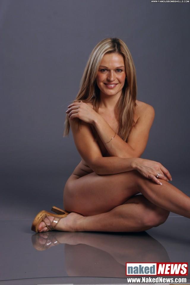 Roxanne West Naked News Beautiful Blonde Gorgeous Medium Tits