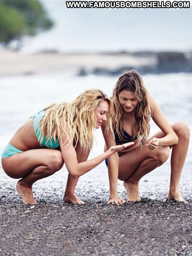 Candice Swanepoel No Source Beautiful Babe Celebrity Bikini Posing