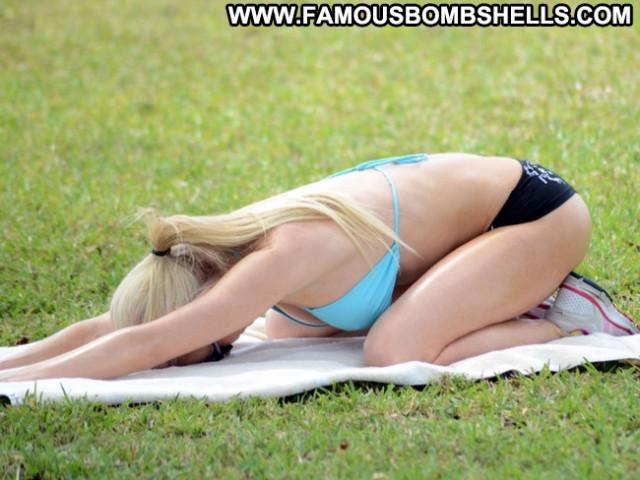 Ana Braga No Source Celebrity Yoga Posing Hot Sexy Public Babe