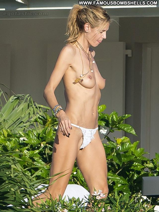 Heidi Klum No Source Posing Hot Paparazzi Babe Celebrity Topless
