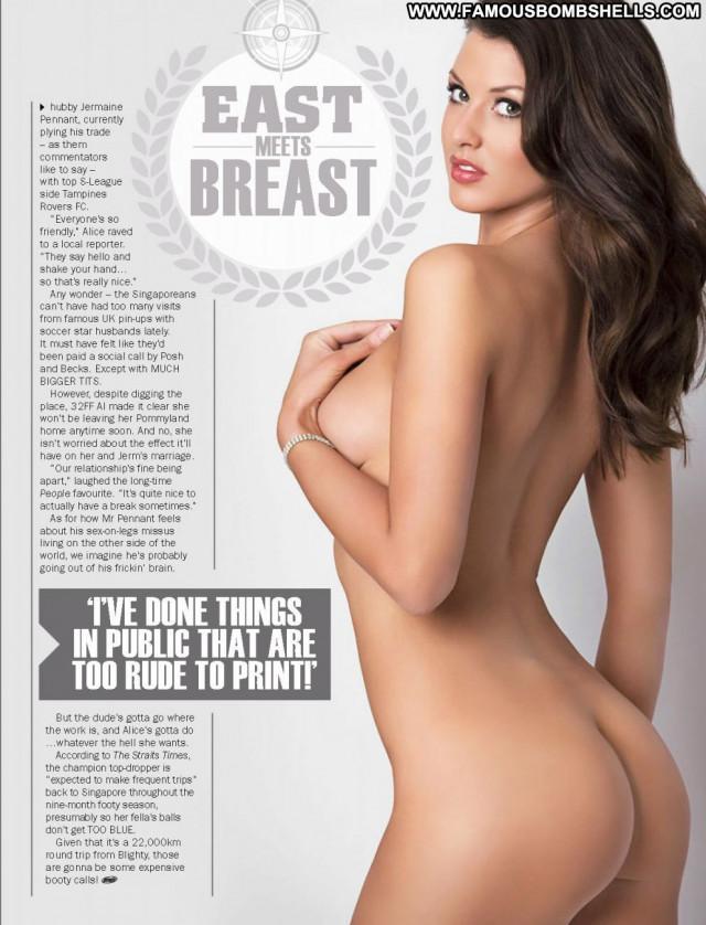 Alice Goodwin Babe British Celebrity Magazine Posing Hot Beautiful
