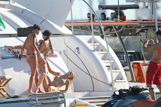 Joanna Krupa No Source Babe Yacht Toples Posing Hot Celebrity Topless