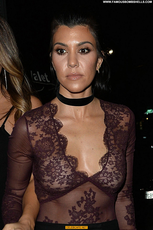 Kourtney Kardashian No Source Celebrity Babe See Through Beautiful