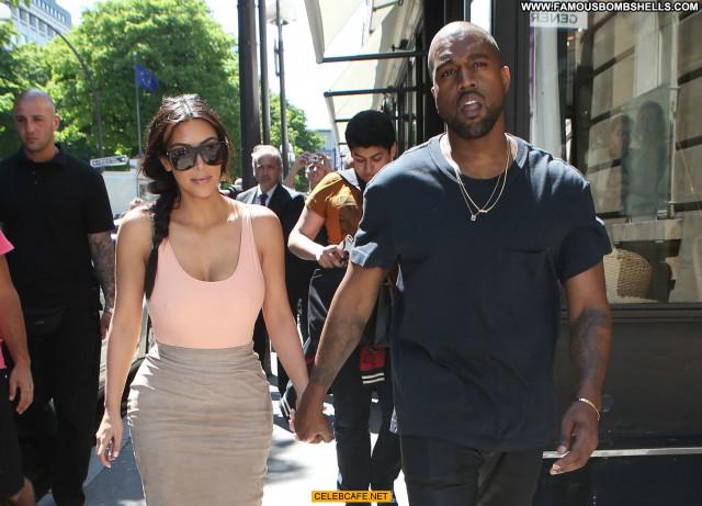 Kim Kardashian No Source Paris Beautiful Ass Posing Hot Celebrity Babe