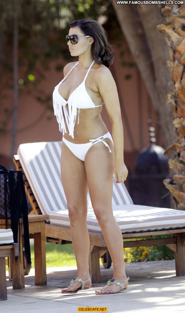 Jessica Wright Posing Hot Celebrity Bikini Beautiful Poolside Pool
