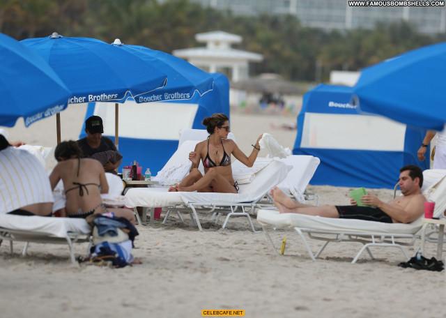 Alessandra Ambrosio Miami Beach Posing Hot Babe Beach Beautiful