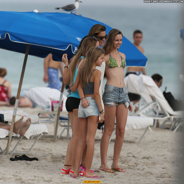 Alessandra Ambrosio Miami Beach Babe Celebrity Posing Hot Beach