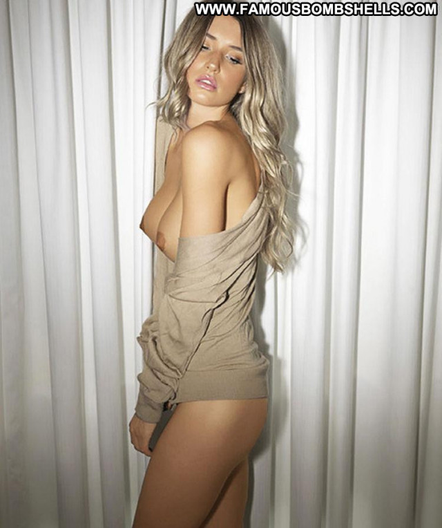 Danica Thrall Photo Shoot Topless Babe Posing Hot Celebrity Photo