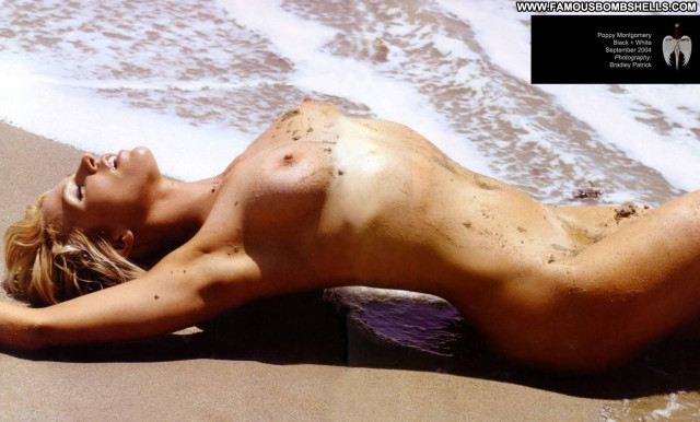 Poppy Montgomery The Beach Beach Toples Celebrity Nude Blonde Posing