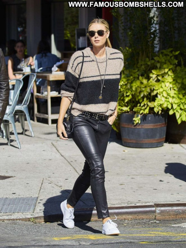 Maria Sharapova New York Beautiful Paparazzi Babe Celebrity Leather