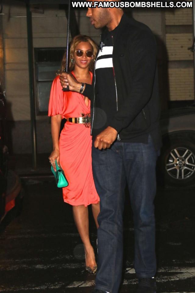 Beyonce Paparazzi Celebrity Nyc Beautiful Babe Orange Posing Hot