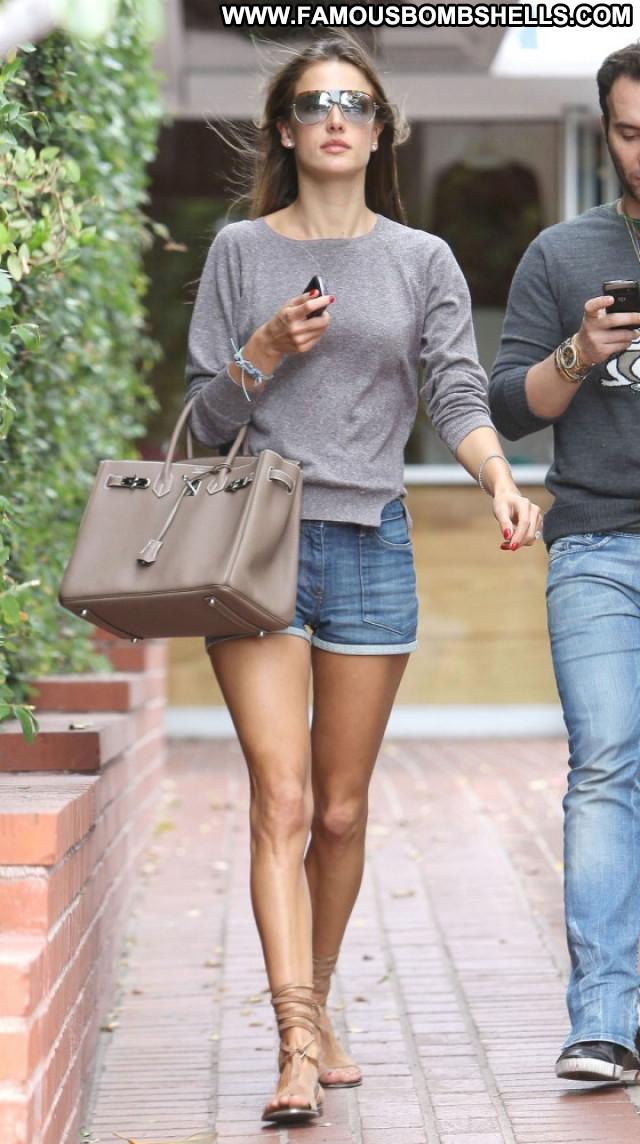 Alessandra Ambrosio Melrose Place Celebrity Paparazzi Candid Posing