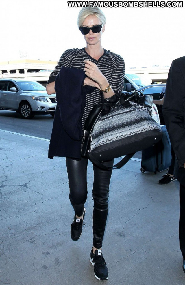 Charlize Theron Lax Airport Angel Celebrity Beautiful Posing Hot Babe