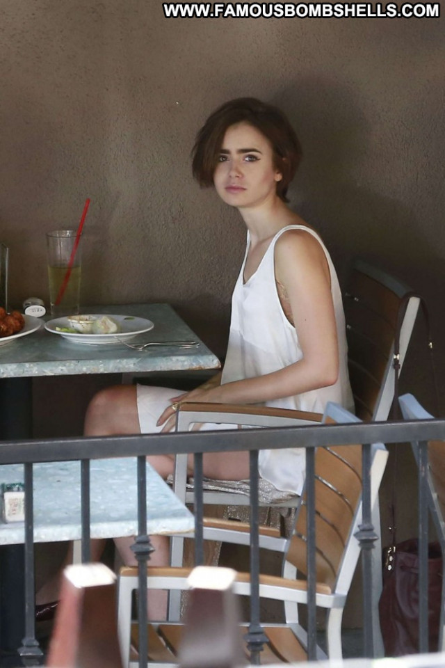 Lily Collins West Hollywood Babe West Hollywood Restaurant Celebrity