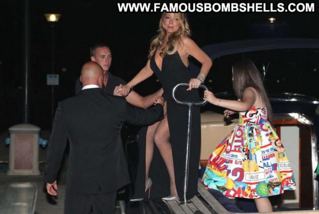 Mariah Carey Babe Car Party Paparazzi Celebrity Beautiful Posing Hot