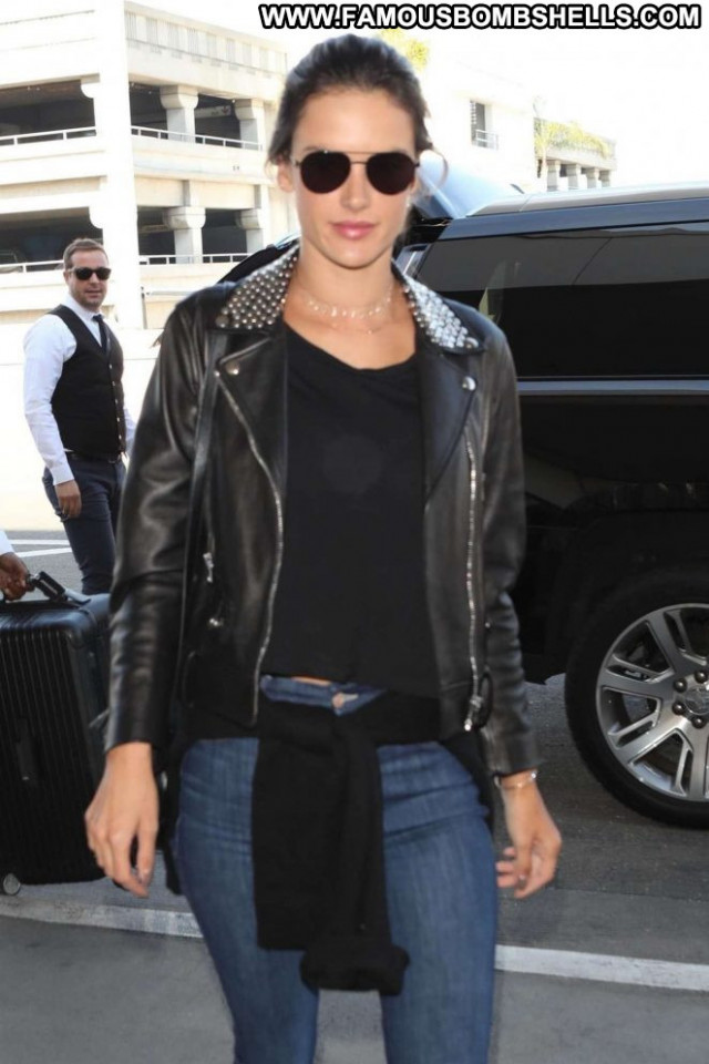 Alessandra Ambrosio No Source Beautiful Celebrity Leather Babe Posing