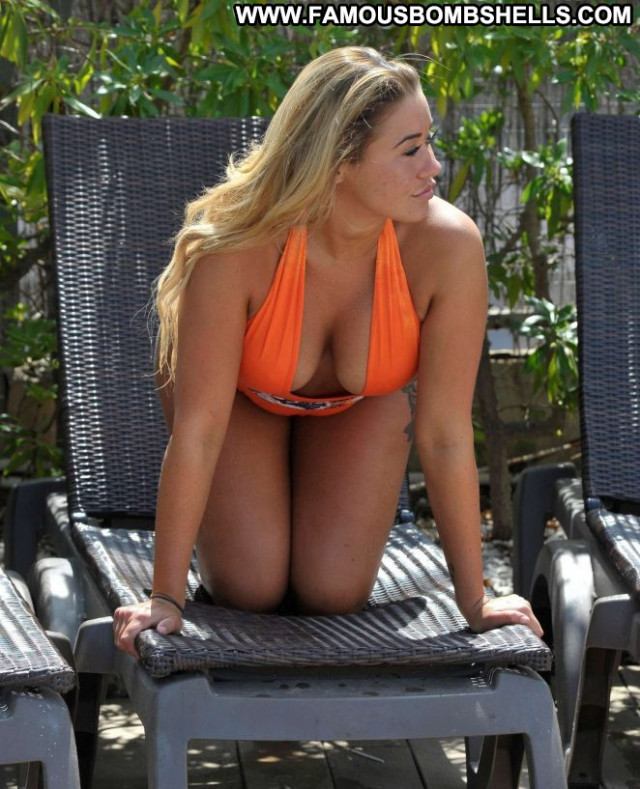 Ellie Young No Source Spain Babe Orange Celebrity Beautiful Swimsuit
