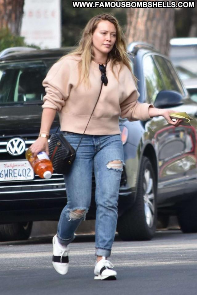 Hilary Duff Studio City Beautiful Paparazzi Posing Hot Celebrity Babe