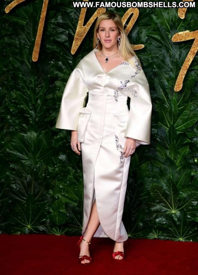 Ellie Goulding No Source Awards British Beautiful London Fashion