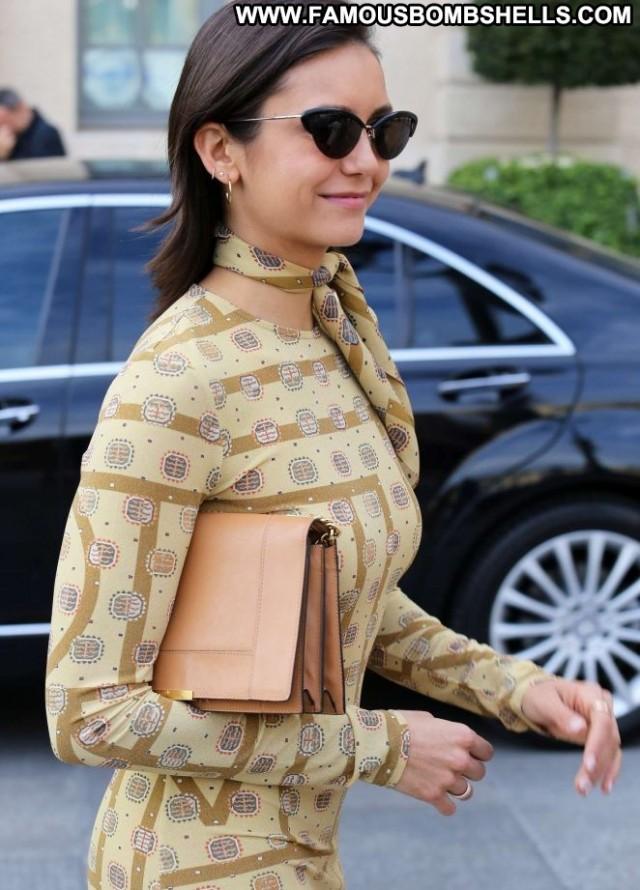 Nina Dobrev No Source Paparazzi Babe Hot Paris Hotel Celebrity